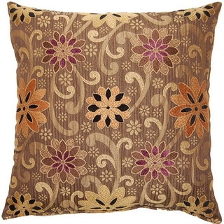 Kaleidoscope Praline 17-inch Throw Pillows (Set of 2)