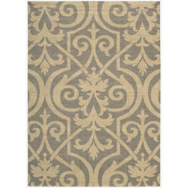 Riviera Slate Wool Blend Rug (5'3 x 7'5)