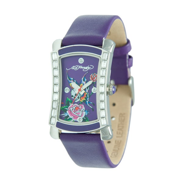 Ed Hardy Women's Stainless Steel 'Skullerfly' Watch