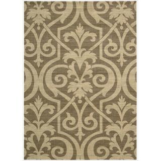 Riviera Mocha Wool Blend Rug (5'3 x 7'5)