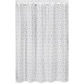 Gray and White Diamond Shower Curtain