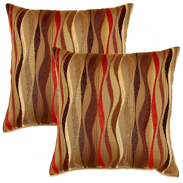 New Wave Brick 17-inch Throw Pillows (Set of 2)