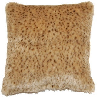 Rapier Cheetah Print Faux Fur 17-inch Throw Pillows (Set of 2)