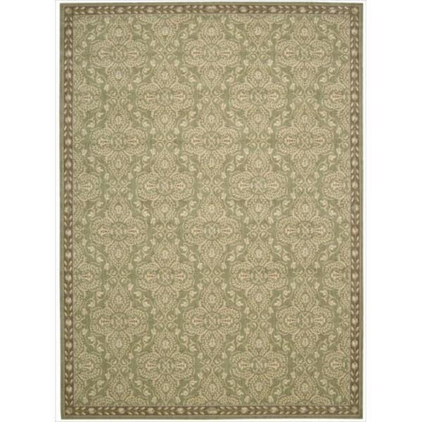 Riviera Green Wool Blend Rug (7'9 x 10'10)