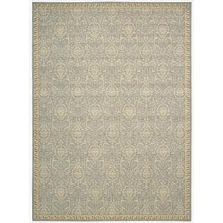 Riviera Blue Wool Blend Rug (7'9 x 10'10)