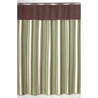 Sweet Jojo Designs Green and Brown Ethan Shower Curtain
