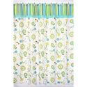 Turquoise and Lime Layla Shower Curtain