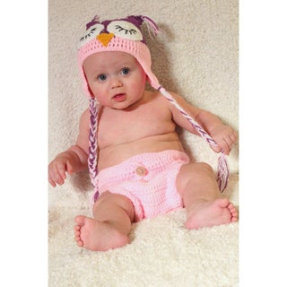 Whoo's Sleeping Beanie and Diaper Set