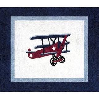 Sweet Jojo Designs Vintage Aviator Airplane Accent Floor Rug - 2'6 x 3'