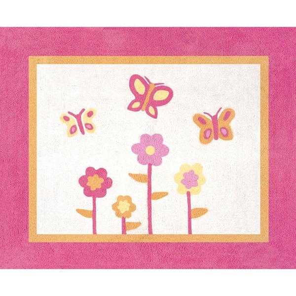 Sweet Jojo Designs Pink and Orange Butterfly Accent Floor Rug