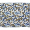 Sweet Jojo Designs Blue and Khaki Camo Accent Floor Rug