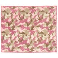 Sweet Jojo Designs Pink and Khaki Camo Accent Floor Rug
