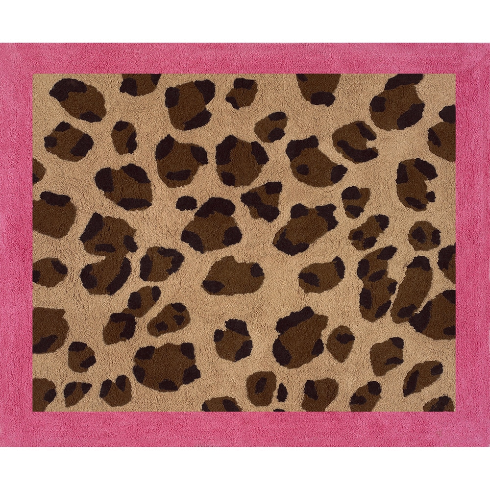 Sweet Jojo Designs Cheetah Girl Pink and Brown Accent Floor Rug