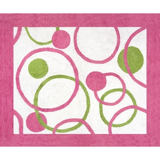 Sweet Jojo Designs Circles Pink and Green Accent Floor Rug