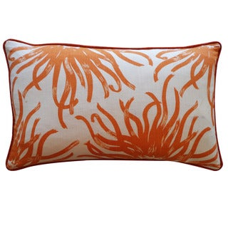Jiti 12-Inch x 20-inch 'Anenoma' Orange-Print Decorative Pillow