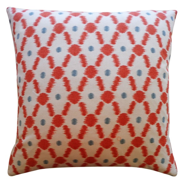 Jiti 20-Inch 'Fence' Orange Decorative Pillow