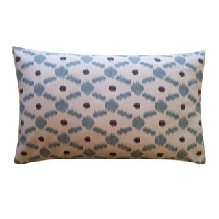 Jiti 12 x 20-inch Blue 'Fence' Decorative Pillow