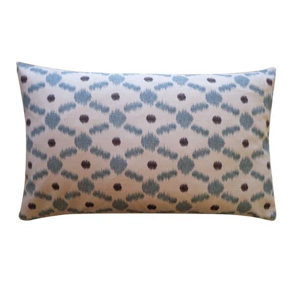Jiti 12 x 20-inch Blue 'Fence' Decorative Pillow