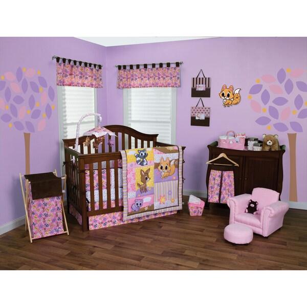 Trend Lab Lola Fox And Friends 5 Piece Crib Bedding Set