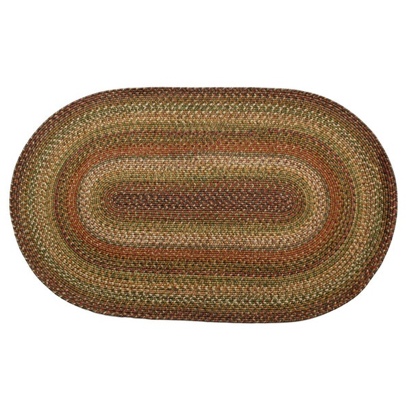 Wild Trees Braided Indoor/ Outdoor Oval Rug (2'6 x 6')