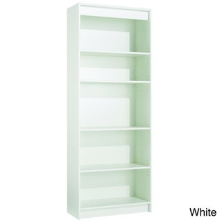 akadaHOME Five-Shelf Wooden Bookcase
