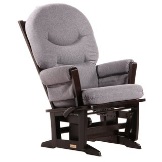 Dutailier Ultramotion Espresso/ Dark Grey Multiposition Reclining Modern Glider
