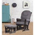Dutailier Ultramotion Espresso/ Dark Grey Multiposition Reclining Modern Glider and Ottoman Set
