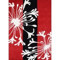 Alliyah Handmade 'Sabrina' Red Blended Wool Rug (9x12)
