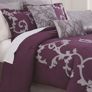 Duchess Plum 9-piece Comforter Set