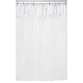 White Eyelet Shower Curtain