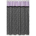 Purple and Black Kaylee Shower Curtain