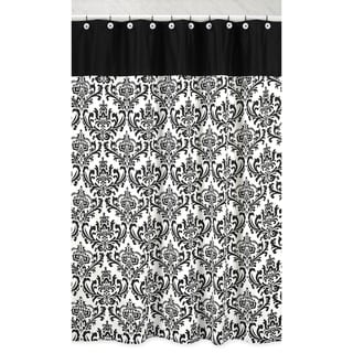 Black and White Isabella Shower Curtain