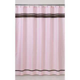 Sweet Jojo Designs Pink and Brown Hotel Shower Curtain