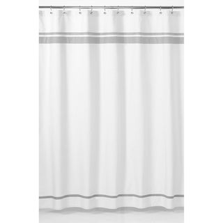 White and Grey Hotel Shower Curtain