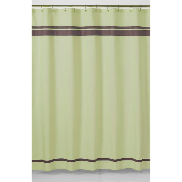Sweet Jojo Designs Green and Brown Hotel Shower Curtain