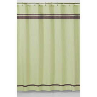 Green and Brown Hotel Shower Curtain