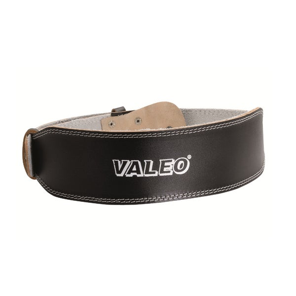 Valeo 4-inch Black Leather Belt (Large)