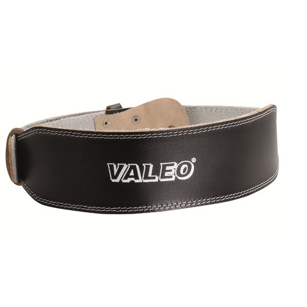Valeo 4-inch Black Leather Belt (Medium)