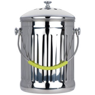 MIU France Stainless Steel Compost Pail with Charcoal Filter
