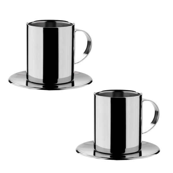 Miu France Stainless Steel Cappuccino Cups (Set of 2) 10477090