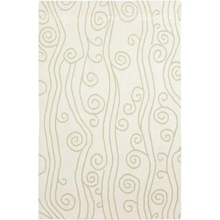 Handwoven Tahoe Green Wool Rug (8' x 11')