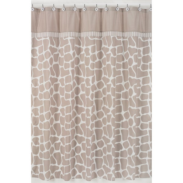 Sweet Jojo Designs Giraffe Neutral Shower Curtain
