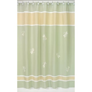 Green Dragonfly Dreams Shower Curtain