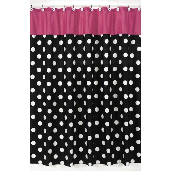 Sweet Jojo Designs Hot Dot Modern Shower Curtain