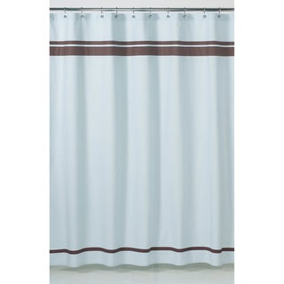 Blue and Brown Hotel Shower Curtain