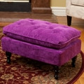 Christopher Knight Home Chloe Tufted Purple Fabric Ottoman