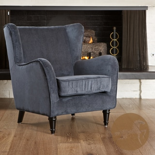 Christopher Knight Home Flores Dark Blue Jacquard Club Chair