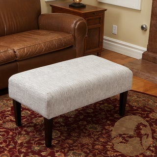 Christopher Knight Home Domingo Grey Striped Fabric Bench Ottoman