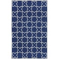 Hand-tufted Blue Tiles Rug (3'6 x 5'6)