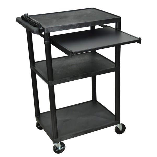 Offex Black LP Computer/ Laptop Presentation Cart